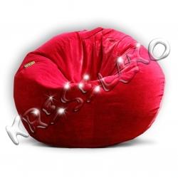 Кресло-шар флок, искусственная замша