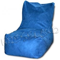 Кресло-мешок лежак флок, иск.замша