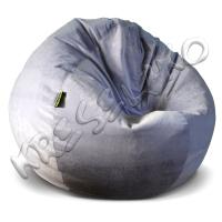 Кресло-шар XXL флок, искусственная замша